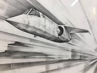 Pair 1950/60's Aeronautical Sketches, Signed (4 of 8)