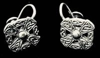 Pair of Silver Iona Celtic Silver Earrings by John Hart
