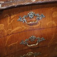 Continental Marquetry Bombe Commode Chest (8 of 14)