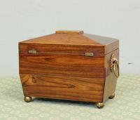 Antique Rosewood Tea Caddy (6 of 15)