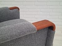 1960s, Restored Danish High-backed Armchair, Model Congo, Furniture Wool (5 of 13)