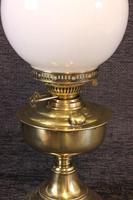 Brass Oil Lamp Opal White Shade (3 of 6)
