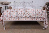Lovely Early Victorian King Size Iron & Brass Bed (8 of 9)