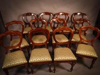Good Set of 12 Victorian Balloon Back Dining Chairs (4 of 11)