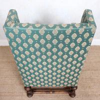 Lounge Chair Armchair Walnut Wingback Edwardian (6 of 12)
