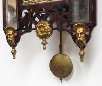 Very Rare English Fusee 5 Inch Dial Wall Clock Mahogany Gothic Ormolu Wall Clock by James Parker Cambridge (9 of 12)