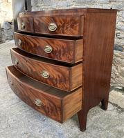 Regency Flame Mahogany Bow Front Chest of Drawers (8 of 17)