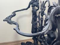 Art Nouveau Style Black Heavy Cast Iron French Nubile Umbrella Stand Corneau Alfred A Charlesville No 27 (38 of 41)