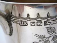 Late Victorian Hand Engraved Silver Christening Mug with Gilt Interior (6 of 7)