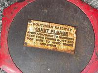 Large Heavy Rusted Cast Iron Railway Plaque Sign Train Notice (4 of 25)