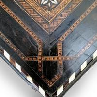 Antique Moorish Style Spanish Side Table with Arabic Writing (7 of 12)