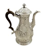 Antique Georgian Sterling Silver Coffee Pot 1759 (10 of 10)
