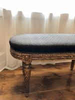 Antique French Carved Giltwood & Gesso Window Seat Bench (9 of 13)