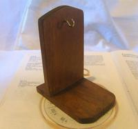 Vintage Wooden Pocket Watch Stand 1940s Dark Oak Robust & Sturdy (4 of 8)