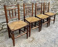 Set of 4 Antique Elm Country Chairs (3 of 13)