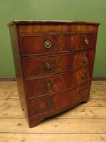 Antique Bow Front Mahogany Chest of Drawers, Country House Chest (3 of 16)