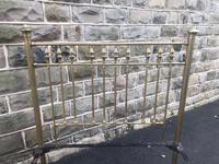 Antique Victorian Brass & Iron Double Bed Frame (5 of 7)