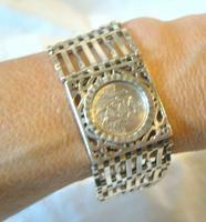 Vintage Sterling Silver Gate Bracelet 1976 St Christopher & Heart Padlock 34.3 Grams (12 of 12)