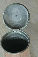 Fine Antique Copper Lidded Coffee Pot Acorn Finial Castellated Seam Georgian (7 of 8)