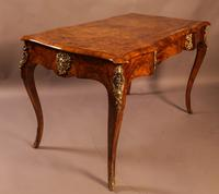 Superb French Centre Table in Burr Walnut (4 of 12)