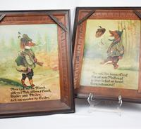 Pair of Hunting Dogs Novelty Oil Paintings (3 of 9)