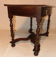 William & Mary Oak Side Table (8 of 9)