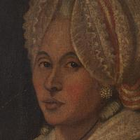 18th-Century French School Portrait of Lady with Bonnet, Oil Painting (9 of 9)