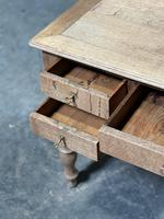 French Bleached Oak Writing Desk (14 of 21)