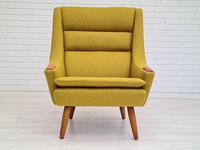 Danish Design, 70s, Completely Restored Armchair, Furniture Wool, Teak Wood (6 of 13)