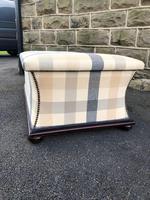 Mahogany Upholstered Sarcophagus Blanket Box (4 of 8)