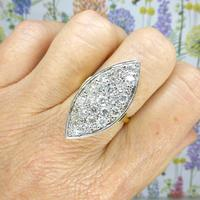 Stunning Vintage 18ct Gold Marquise Diamond Cluster Ring 1.65ct ~ With Independent Appraisal / Valuation (3 of 10)