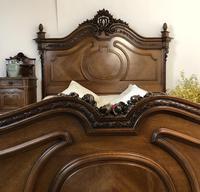 Antique French Stunning Huge Oak Bed Frame & Pot Cupboard (12 of 16)