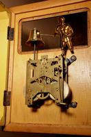 French Mahogany & Satinwood Signed Odo Automation Striking Wall Clock (5 of 5)