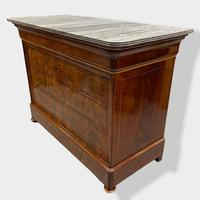 Exceptional Quality Inlaid Marble Top Commode (12 of 12)