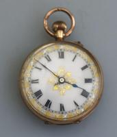 Antique Ladies 9ct Solid Gold Cased Fob Watch & Travelling Watch Holder c.1909 (3 of 7)