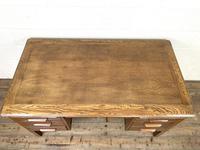 Early 20th Century Antique Oak Pedestal Desk (8 of 9)