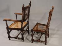 Attractive Set of 6 Early 20th Century Jacobean Style Chairs in Oak (2 of 6)