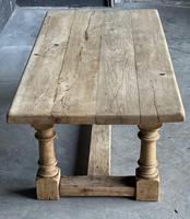 French Bleached Oak Coffee Table (6 of 11)