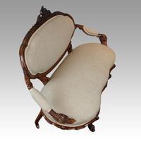 Victorian Walnut Love Seat (6 of 9)