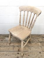 Set of Four Antique Spindle Back Kitchen Chairs (8 of 9)