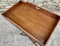 Small Antique Mahogany Butlers Tray on Stand (5 of 15)