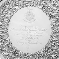 Magnificent Georgian Sterling Silver Tray / Salver with Military Lieutenant Interest - James Fray 1833 (15 of 23)