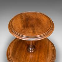 Antique Two Tier Table, English, Mahogany, Afternoon Tea, Cake Stand, Edwardian (7 of 12)