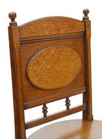 Pair of Oak Hall Side or Bedroom Chairs c.1880 (5 of 6)