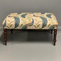 Regency Centre Footstool newly upholstered (4 of 4)