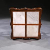 Fine 19th Century Chinese Huali Stand / Table with Alabaster Inserts (5 of 11)