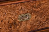 Burr Walnut Victorian Campaign Chest of Drawers (4 of 10)