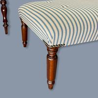 Buttoned Ticking Stripe Sofa & Footstool (5 of 11)