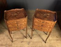 Pair of French Inlaid Tulipwood Bedside Tables (11 of 11)