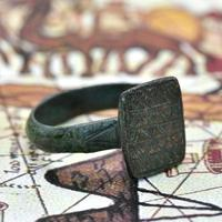 The Ancient Medieval Bronze Mountain Traveller's Ring (2 of 4)